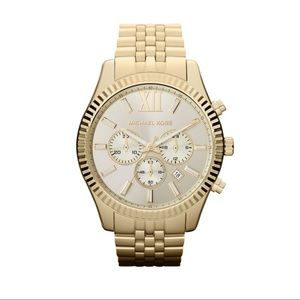 Michael Kors Gold Tone Lexington Watch MK5556